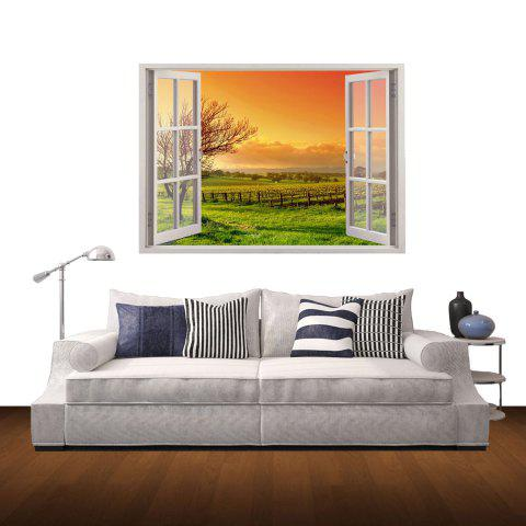 Outfit 3D Country Sunset Style Wall Sticker Home Appliances Decor Wall Decals