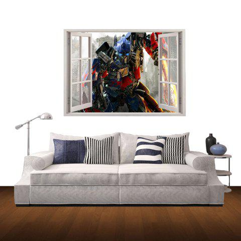 Chic 3D Transformers Style Wall Sticker Home Appliances Decor Wall Decals
