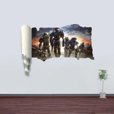 New 3D Wall Stickers Future Soldiers Style Wall Decals Home Appliances Decor