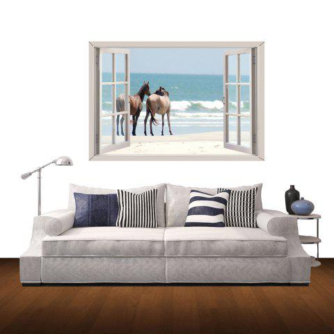 Fashion 3D Wall Stickers Seaside Horse Style Wall Decals Home Appliances Decor