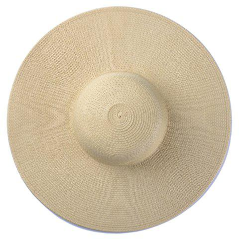 Chic Wide Brim Candy Color Straw Hat For Women от Rosegal.com INT