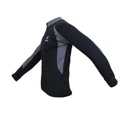 Sale Arsuxeo 130022 Cycling Jersey Bike Bicycle Running Long Sleeve Clothes for Male -   Mobile