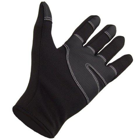 Best 2Pcs FLL Windstopper Softshell Outdoor Sports Full-finger Gloves for Winter Riding Cycling Racing - S BLACK Mobile