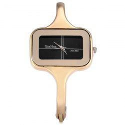 Xinhua 340 Female Quartz Bracelet Watch Rectangle Dial Steel Strap - GOLDEN