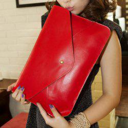 Trendy Rivet and Envelop Design Women's Clutch Bag - RED