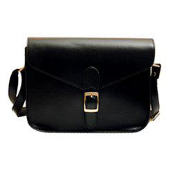 Retro Solid Color and Buckle Design Women's Crossbody Bag