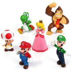 Exquisite 6pcs Mini Super Mario Bros 4 - 7cm Action Figures Doll Toy