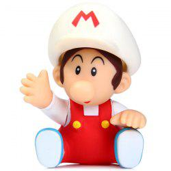 Super Mario Brothers Toy Figure Baby Mario with White Cap 9cm Height