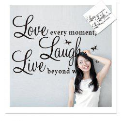 Live Love Laugh English Quotes Style Wall Sticker Home Appliances Decor Wall Decals