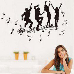 Crazy for Music Style Wall Sticker Home Appliances Decor Wall Decals -