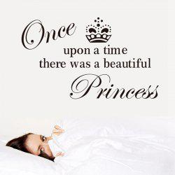 Princess English Words Style Wall Sticker Home Appliances Decor Wall Decals