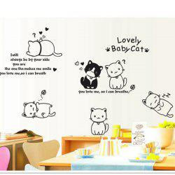 Lovely Baby Cat Style Wall Sticker Home Appliances Decor Wall Decals -