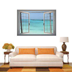 Stickers muraux 3D Stickers muraux de plage Home Decor -