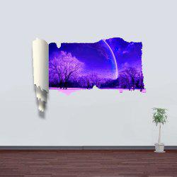 3D Wall Stickers Sakura at Night Style Wall Decals Home Appliances Decor