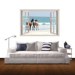 3D Wall Stickers Seaside Horse Style Wall Decals Home Appliances Decor -