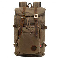 Fashionable Buckle and String Design Men's Backpack - ARMY GREEN