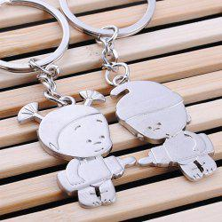 Pair of Sweet Doll Pendant Key Rings For Lovers