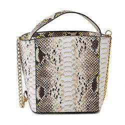Fashionable Chain and Snake Print Design Women's Tote Bag -