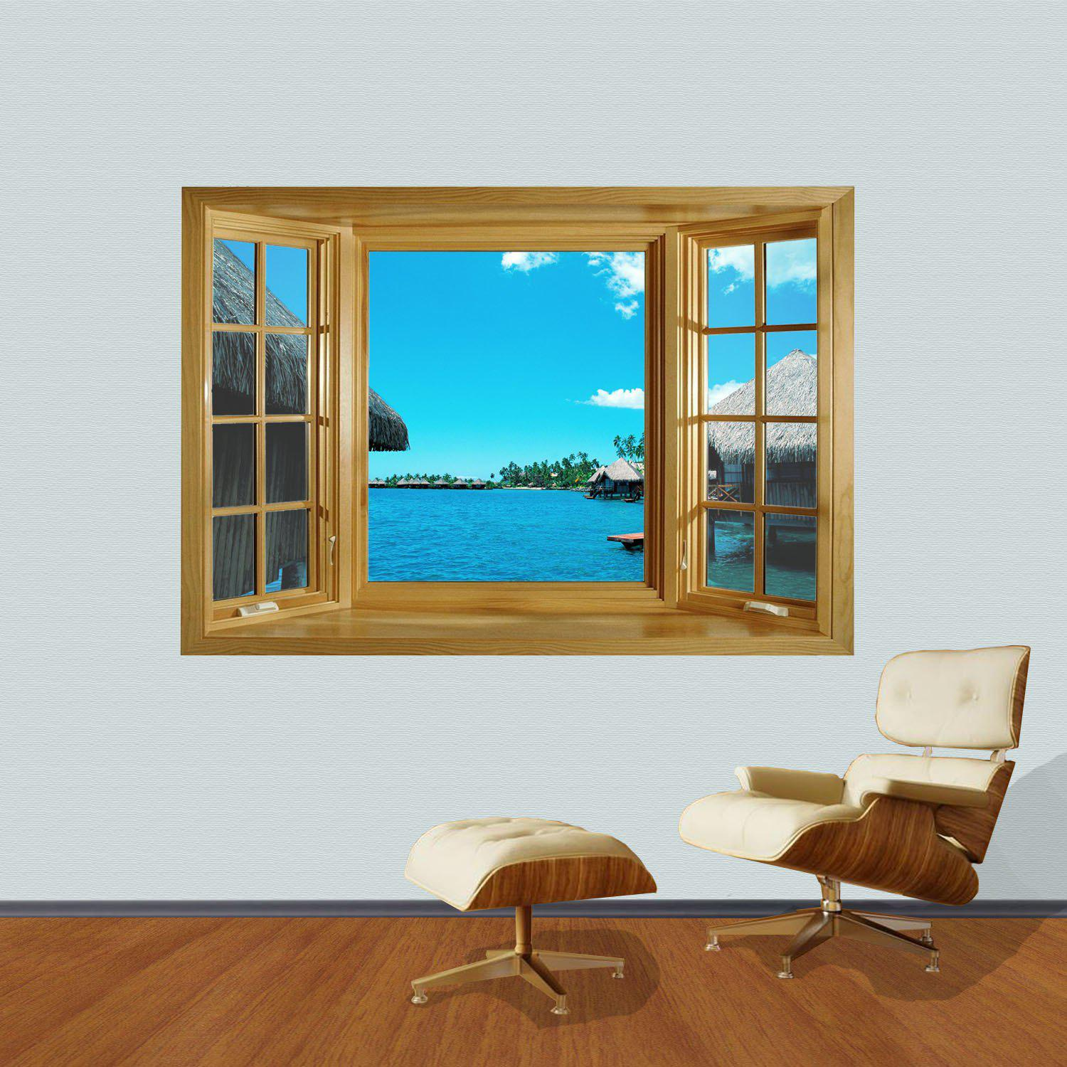 As The Picture 3d Seascape Style Wall Sticker Home