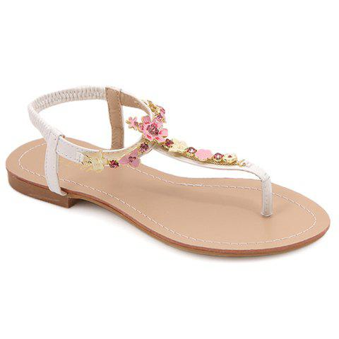 Fancy Graceful Flowers and Flip-Flop Design Women's Sandals