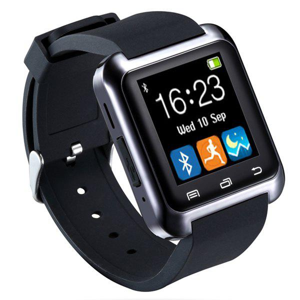 U80 Smart Watch with Pedometer FunctionJEWELRY<br><br>Color: BLACK; Bluetooth Version: Bluetooth 3.0;