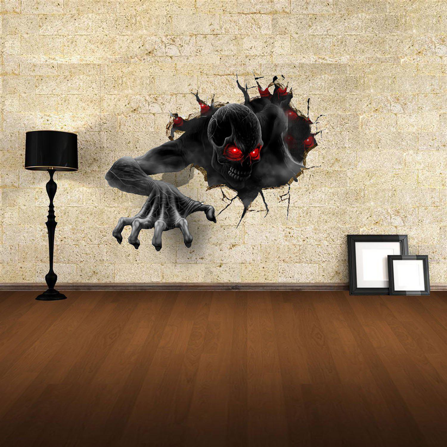Shop 3D Wall Stickers Devil Style Wall Decals Home Appliances Decor