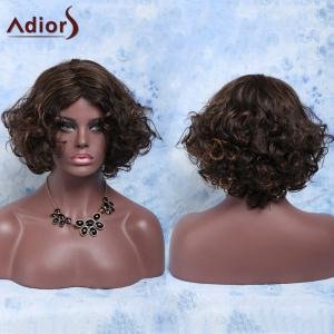 Charming Short Mixed Color Elegant Curly Synthetic Wig For Women