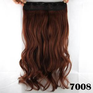 Fashion Long Wavy Clip-In Charming Reddish Heat Resistant Synthetic Hair Extension -