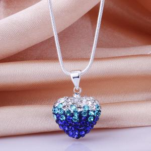 Rhinestone Heart Romantic Necklace For Women