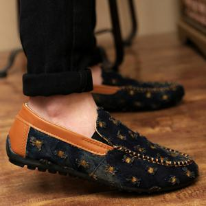 Stylish Splicing and Demin Design Men's Casual Shoes -