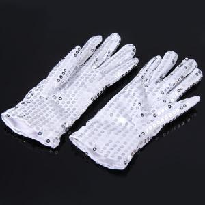 1 Pair Luminous Glove with Paillette Masquerade Props for Party Cosplay Decoration -
