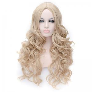 Prevailing Linen Heat Resistant Synthetic Deep Wavy Fluffy Women's Long Hair Wig -