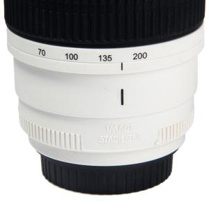 Caniam Camera Lens Cup Coffer Water Mug Cups with EF 70-200mm F/2.8L IS USM - WHITE