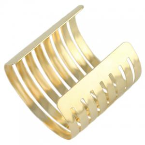Characteristic Solid Color Multi-Layered Hollow Out Cuff Bracelet For Women -