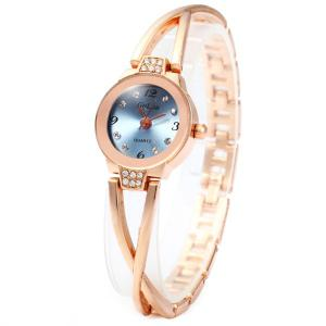 Golou G008 Quartz Chain Watch with Round Dial Steel Strap for Women -