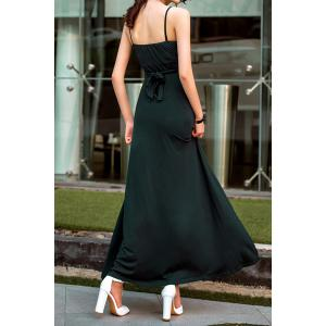 Bohemian Spaghetti Strap Solid Color Maxi Dress For Women -