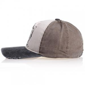 Chic Badge Pattern Color Splice Baseball Cap For Men - RANDOM COLOR