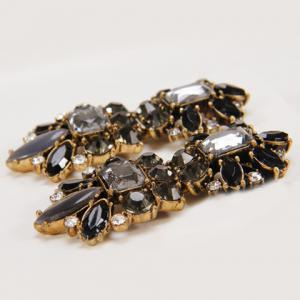 Pair of Chic Retro Style Faux Gem Decorated Square Shape Earrings For Women -