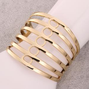 Chic Openwork Stripe Design Alloy Bracelet For Women -