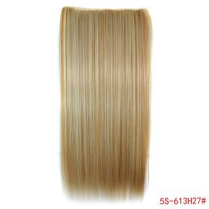 Fashion Clip-In Long Straight 613H27 Heat Resistant Synthetic Hair Extension For Women