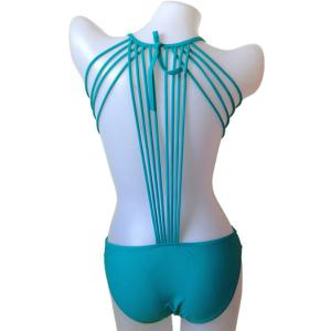 Fashionable Tie-Up Solid Color One-Piece Swimwear For Women
