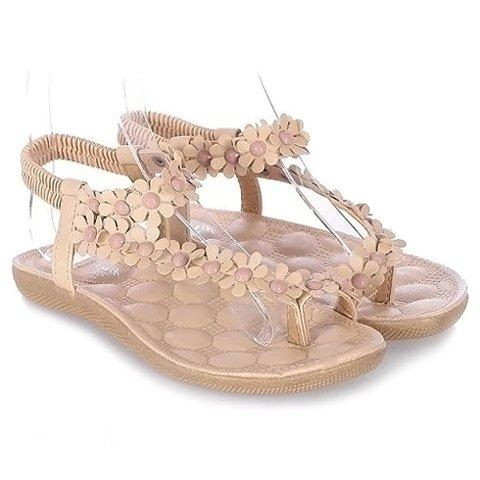Cheap Sweet Elastic and Flowers Design Women's Sandals