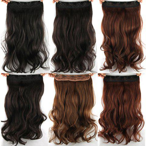 Cheap Fashion Long Wavy Clip-In Charming Reddish Heat Resistant Synthetic Hair Extension - BROWN  Mobile