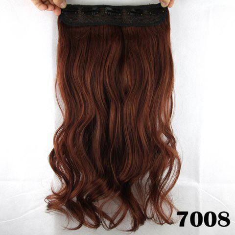 Fashion Fashion Long Wavy Clip-In Charming Reddish Heat Resistant Synthetic Hair Extension - BROWN  Mobile