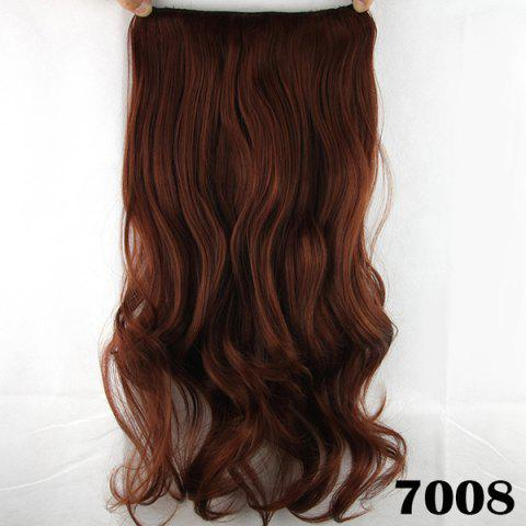 Fancy Fashion Long Wavy Clip-In Charming Reddish Heat Resistant Synthetic Hair Extension - BROWN  Mobile