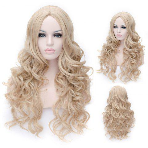 Buy Prevailing Linen Heat Resistant Synthetic Deep Wavy Fluffy Women's Long Hair Wig