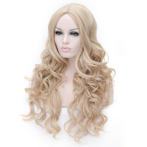 Best Prevailing Linen Heat Resistant Synthetic Deep Wavy Fluffy Women's Long Hair Wig - FLAX  Mobile