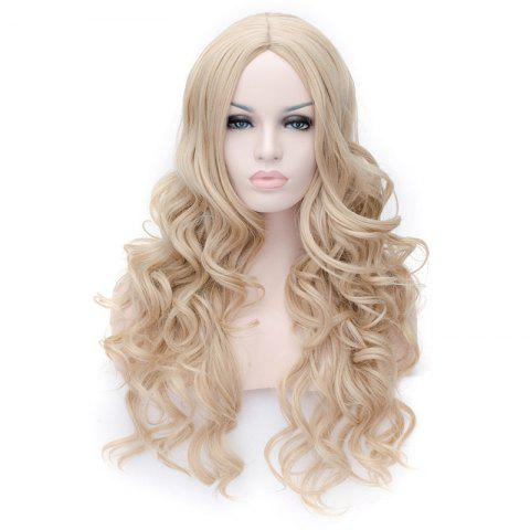 Hot Prevailing Linen Heat Resistant Synthetic Deep Wavy Fluffy Women's Long Hair Wig - FLAX  Mobile