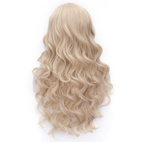 Cheap Prevailing Linen Heat Resistant Synthetic Deep Wavy Fluffy Women's Long Hair Wig - FLAX  Mobile