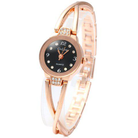 Discount Golou G008 Quartz Chain Watch with Round Dial Steel Strap for Women